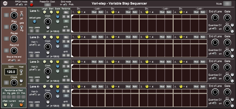 Vari-step - Variable Step Sequencer