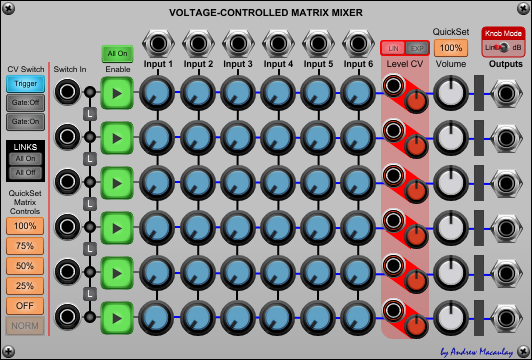 Voltage-Controlled Matrix Mixer