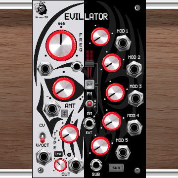 Nrgzr78_EVILLATOR [ Oscillator, Source, Sub, FM, AM ]