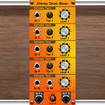 Stereo Drum Mixer