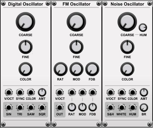 Three Oscillators
