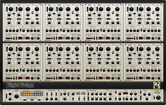 Eight Voice Synthesizer